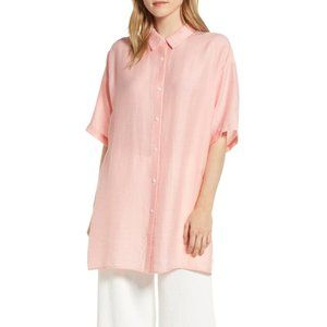 Lou & Grey Pink Button Up Shirt Dress